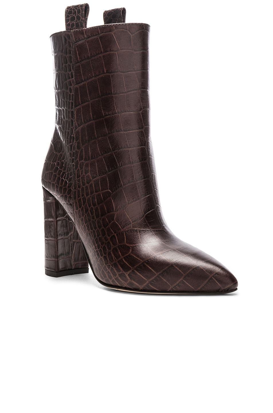 Image 2 of Paris Texas Ankle Boot in Dark Brown Croc