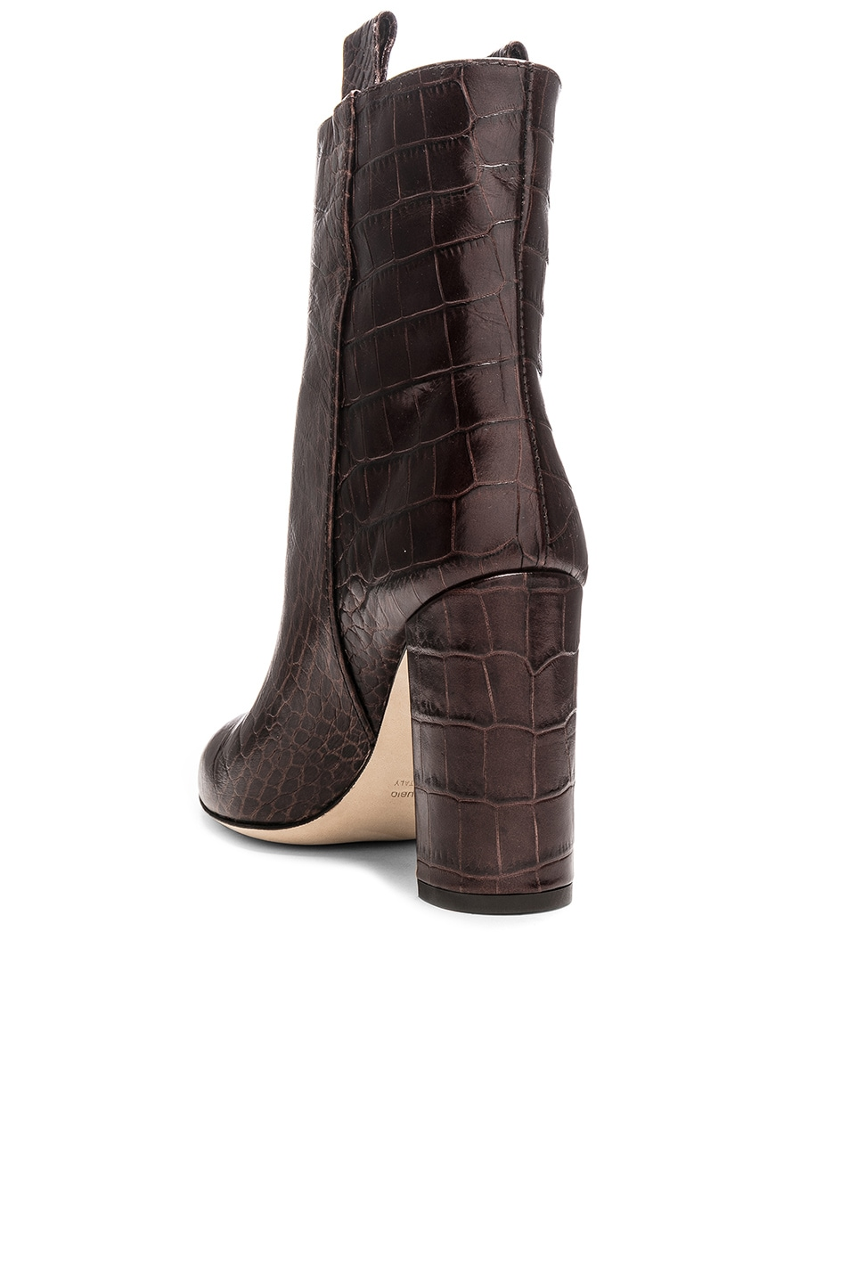 Image 3 of Paris Texas Ankle Boot in Dark Brown Croc