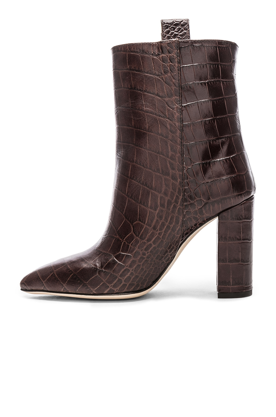 Image 5 of Paris Texas Ankle Boot in Dark Brown Croc