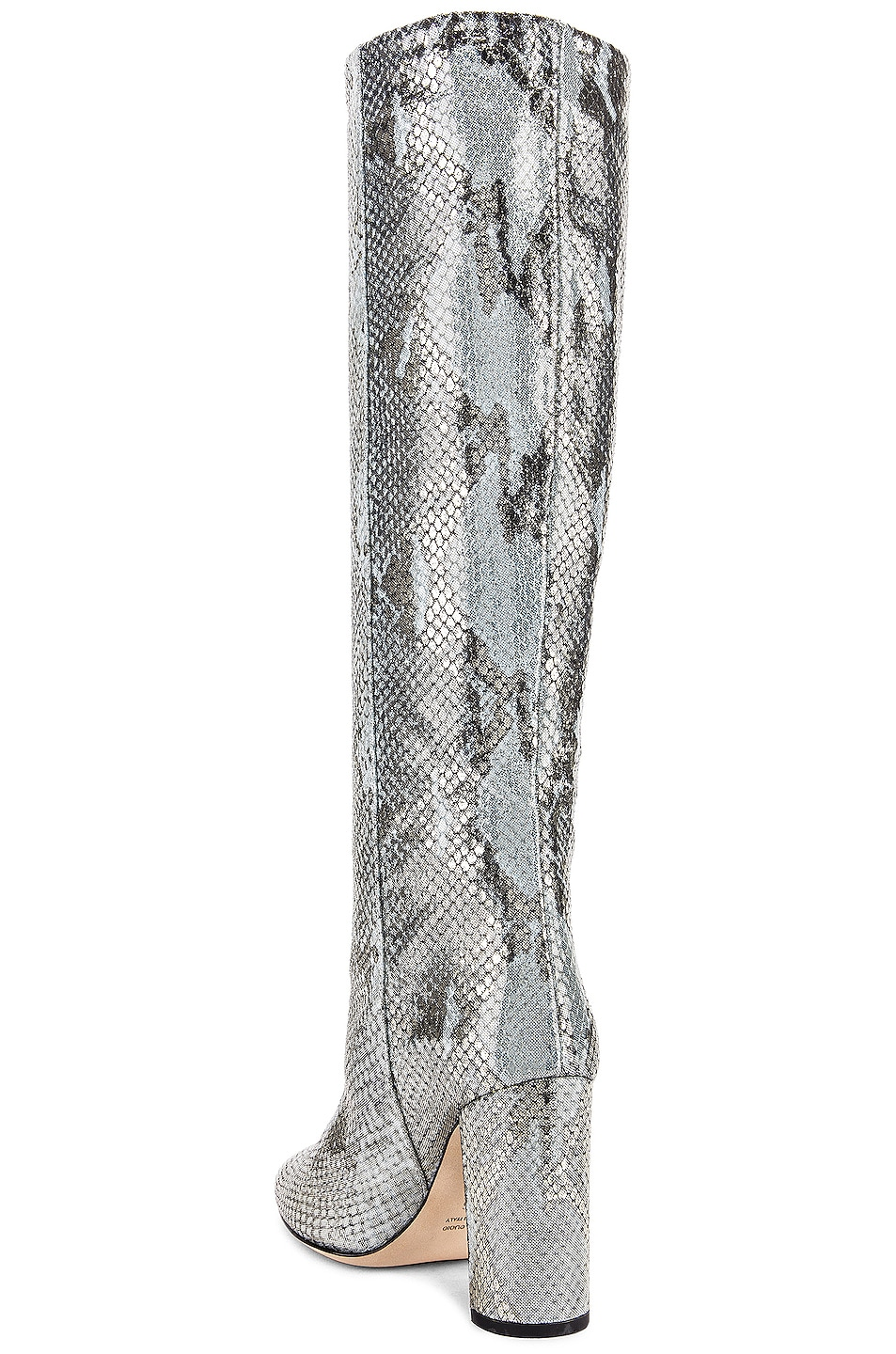 Image 3 of Paris Texas Python Lame Print Boot in Light Blue