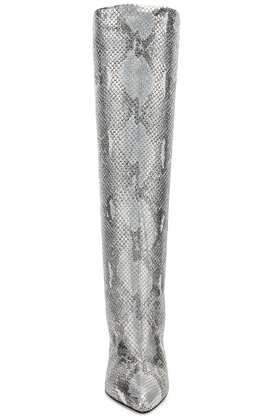 Image 4 of Paris Texas Python Lame Print Boot in Light Blue
