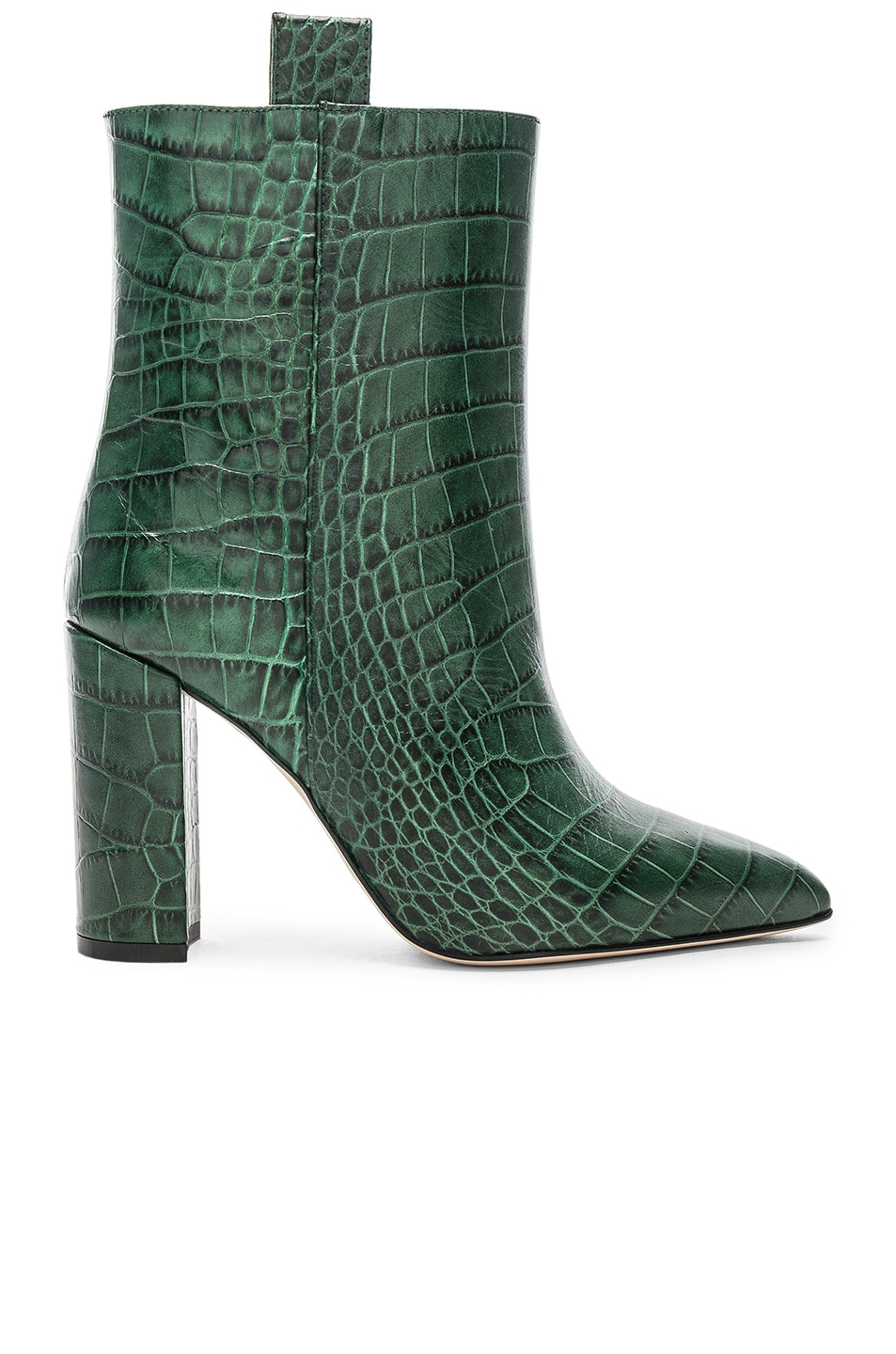 Image 1 of Paris Texas Ankle Boot in Green Croc