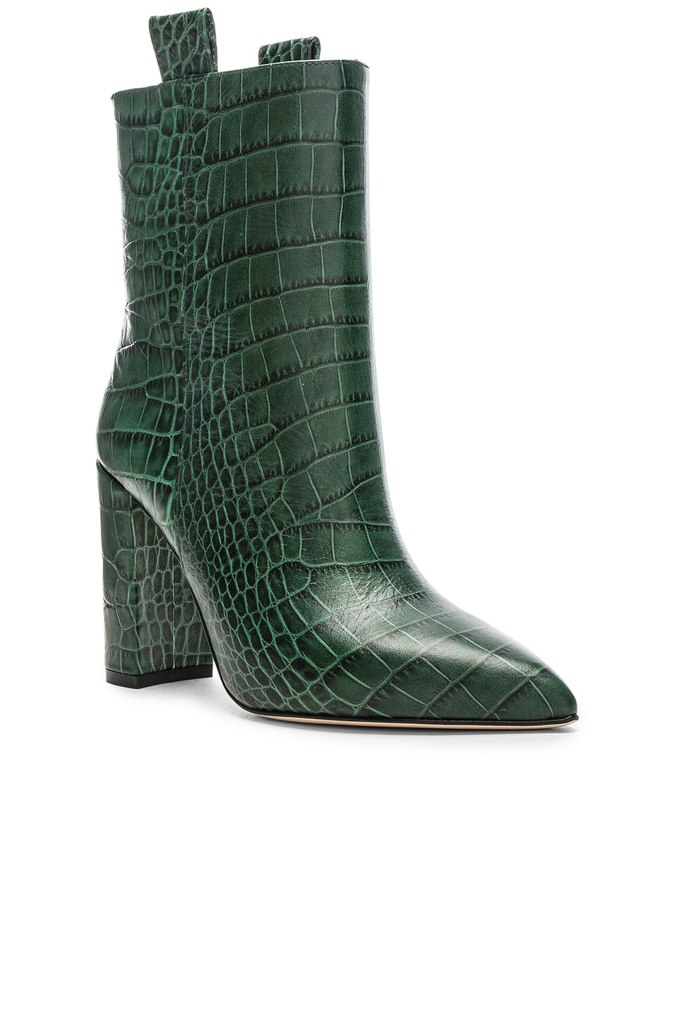 Image 2 of Paris Texas Ankle Boot in Green Croc