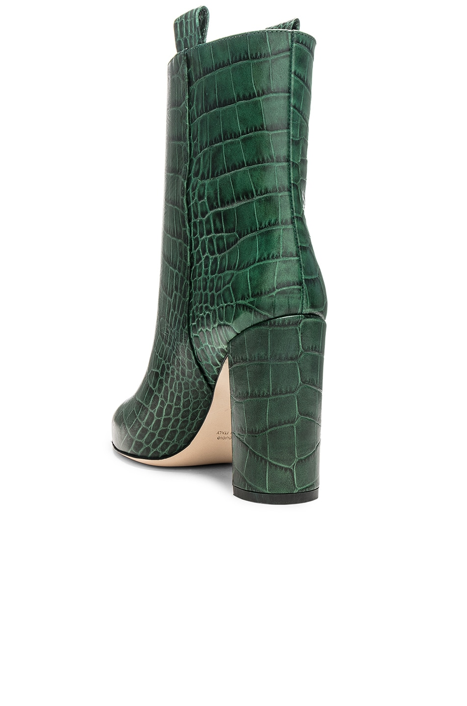 Image 3 of Paris Texas Ankle Boot in Green Croc
