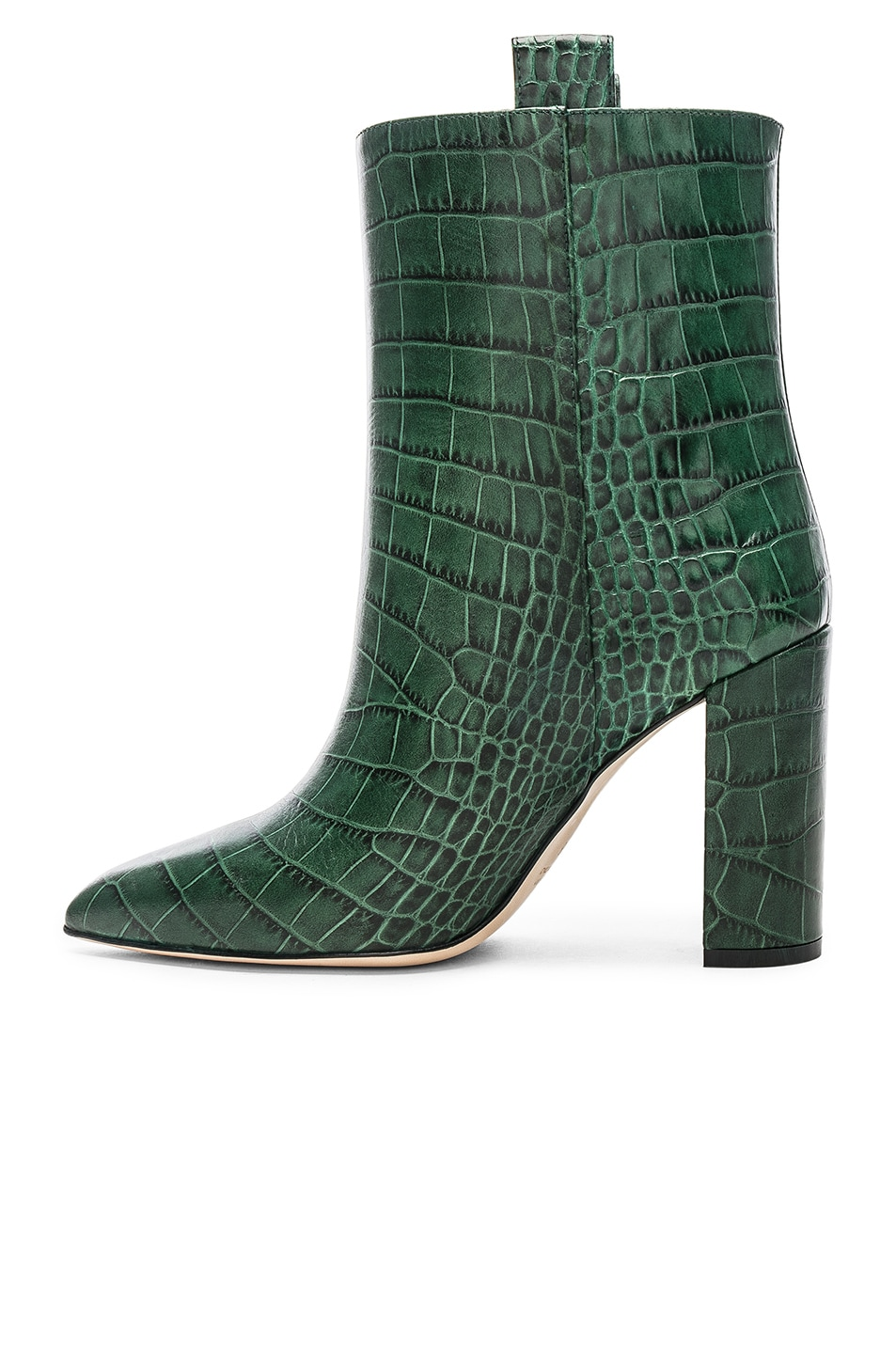 Image 5 of Paris Texas Ankle Boot in Green Croc