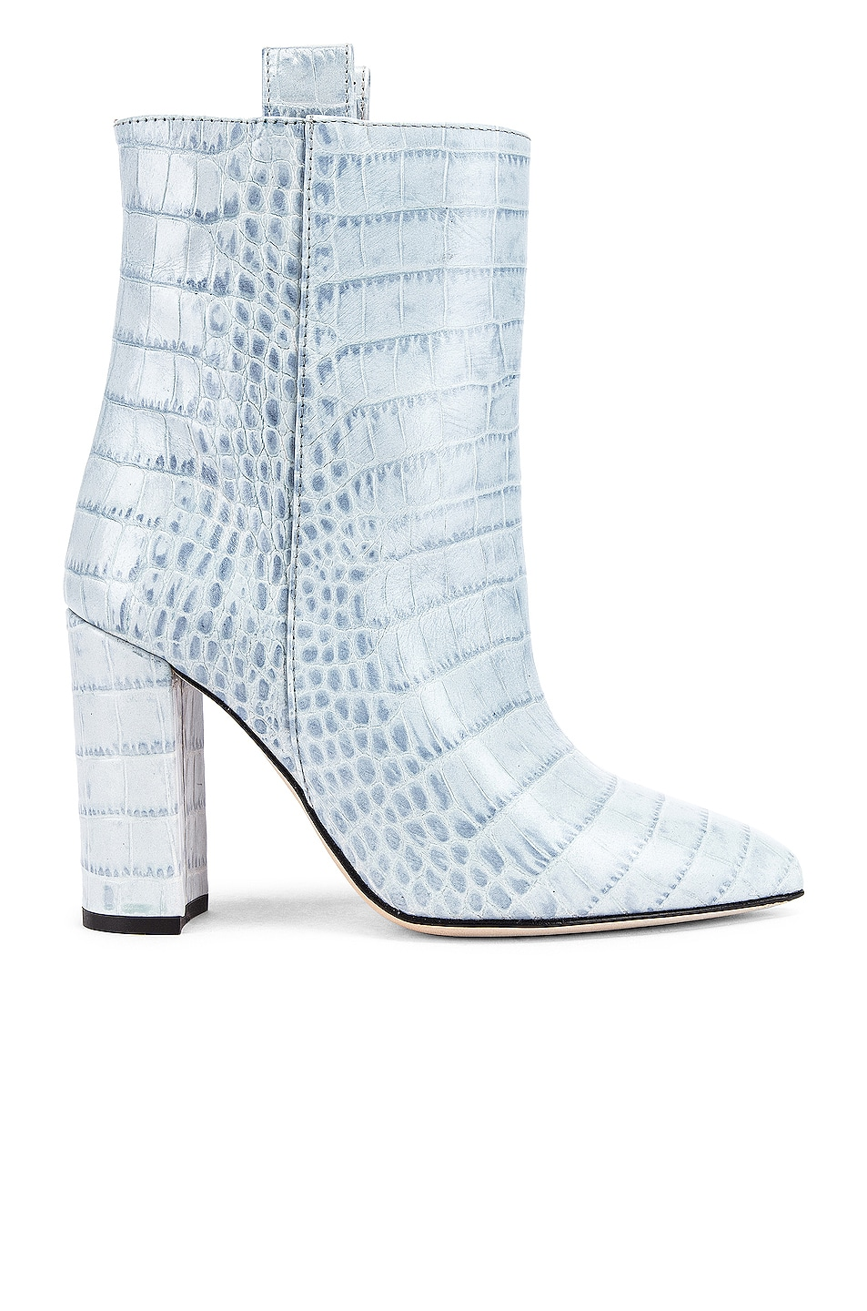 Image 1 of Paris Texas Moc Croco Ankle Boot in Light Blue