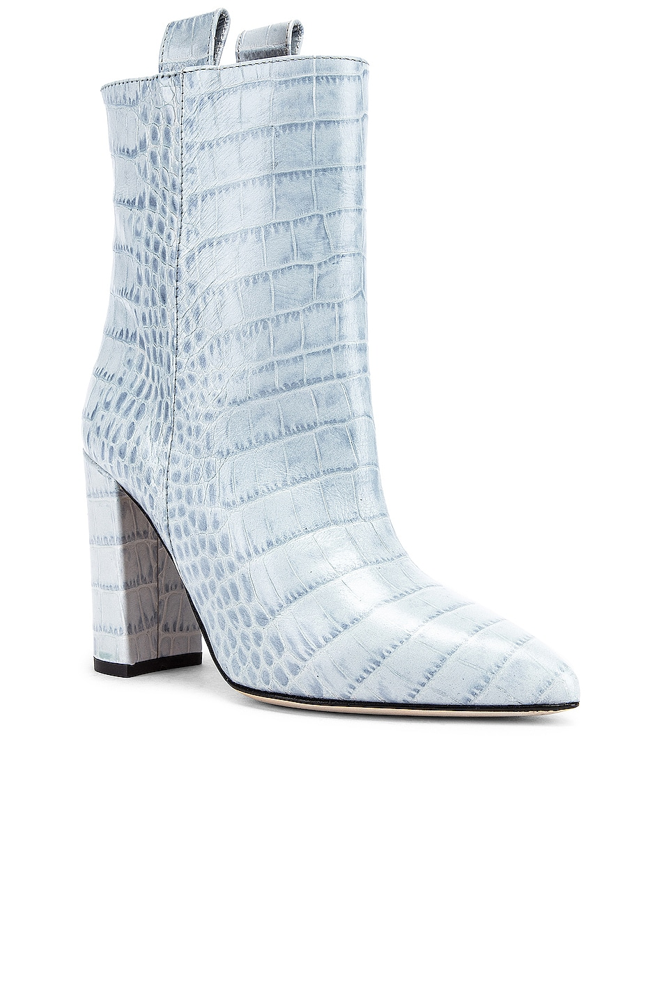 Image 2 of Paris Texas Moc Croco Ankle Boot in Light Blue