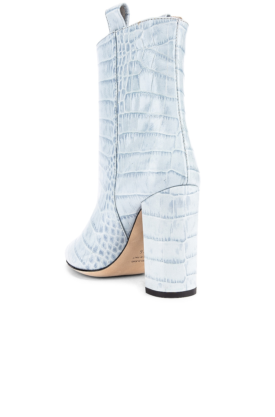 Image 3 of Paris Texas Moc Croco Ankle Boot in Light Blue
