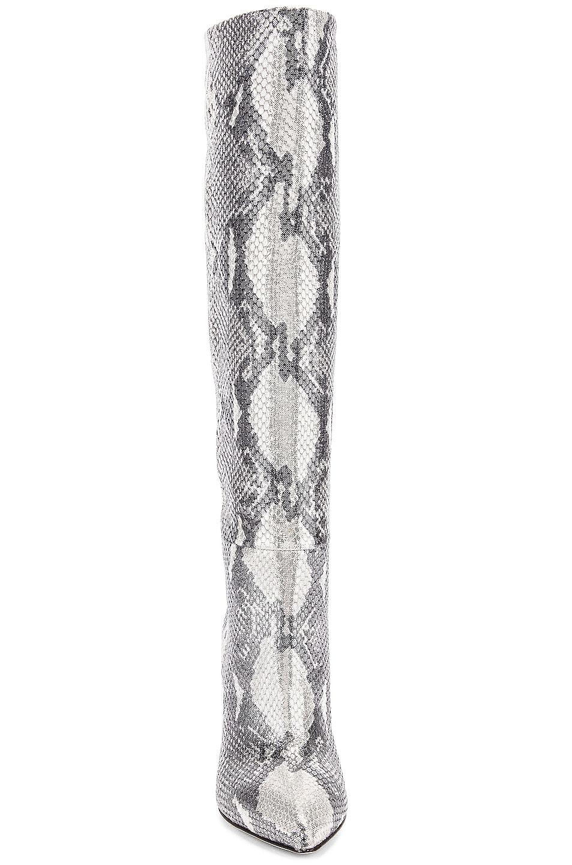Image 4 of Paris Texas for FWRD Python Lame Stiletto Tall Boot in White