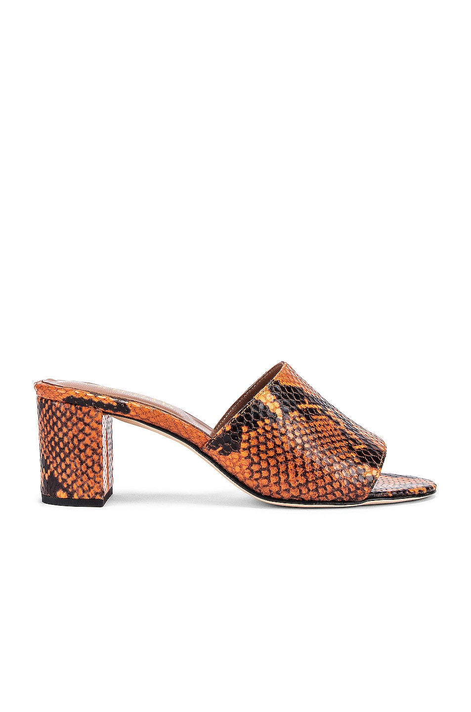 Image 1 of Paris Texas Python Print 60 Mule in Orange