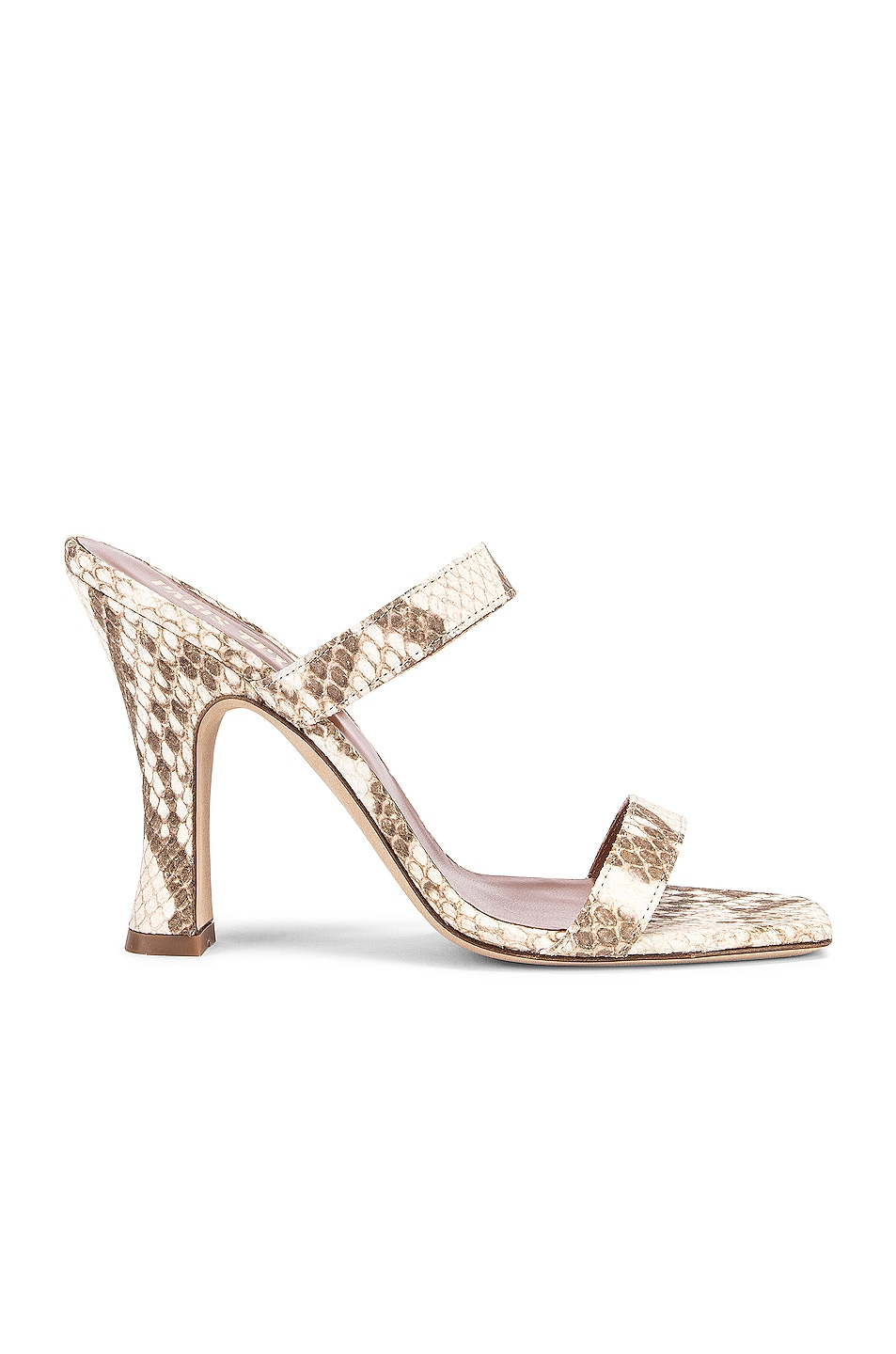 Image 1 of Paris Texas Faded Python Print Mule in Faded Natural