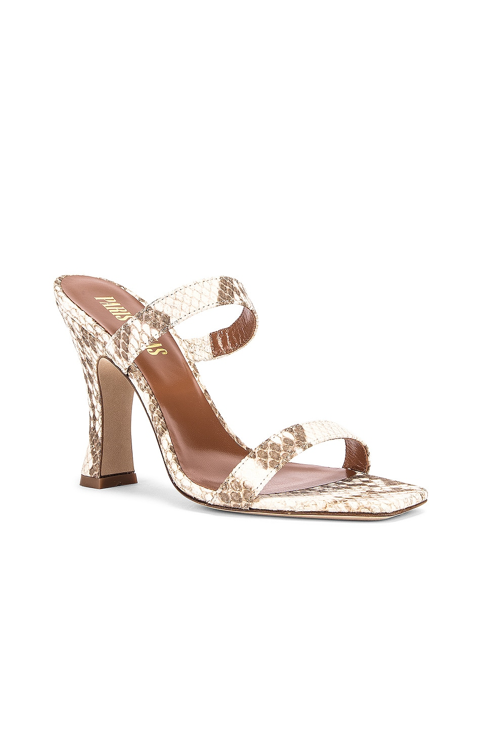 Image 2 of Paris Texas Faded Python Print Mule in Faded Natural