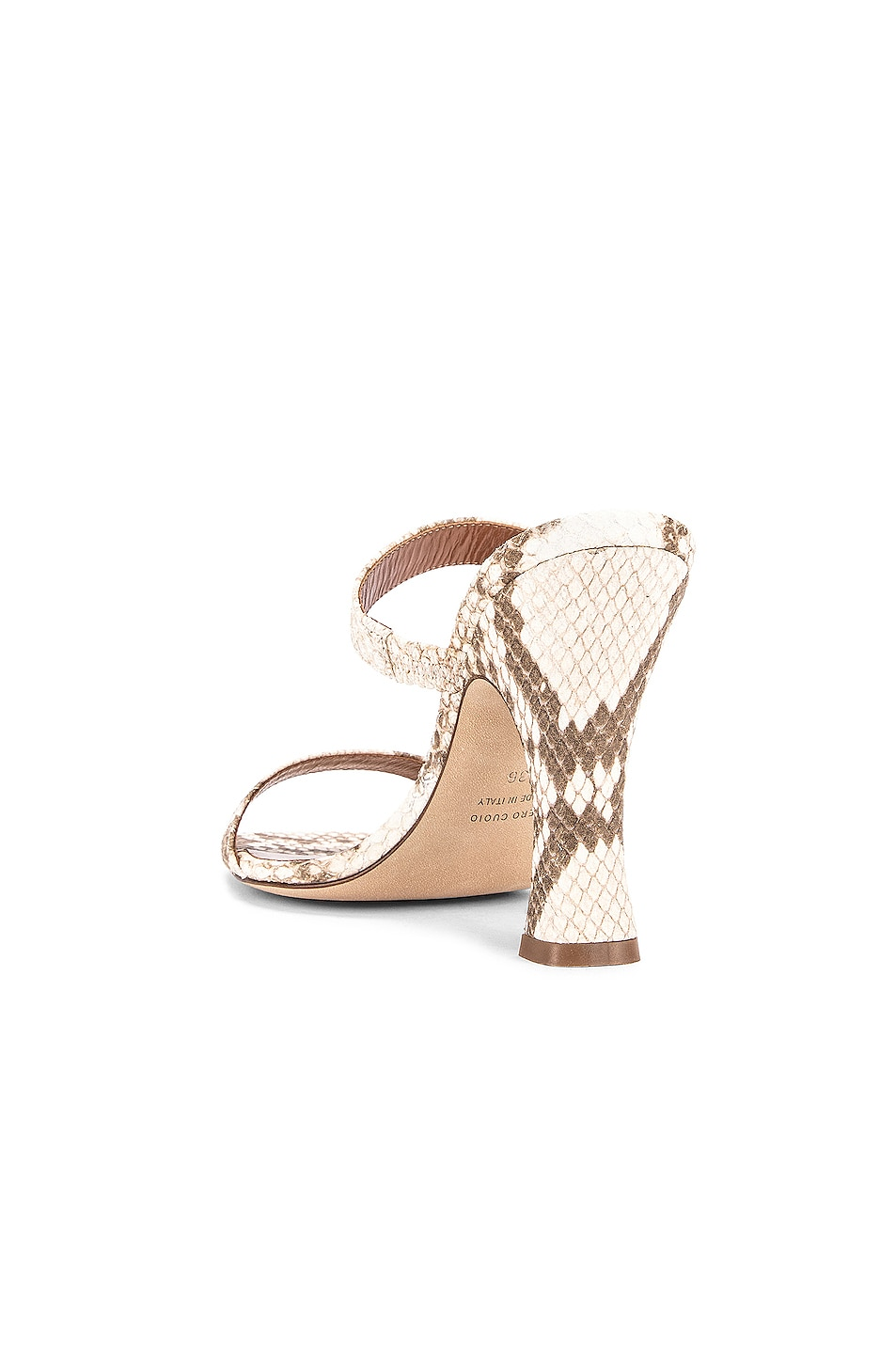 Image 3 of Paris Texas Faded Python Print Mule in Faded Natural