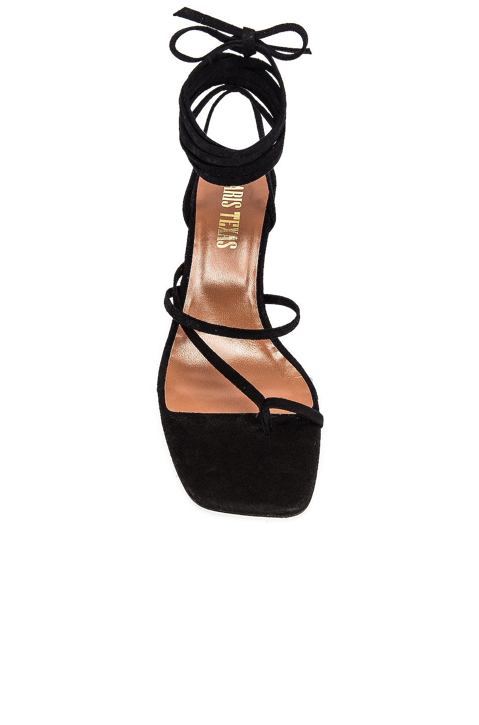Image 4 of Paris Texas Suede Wrap Sandal in Black