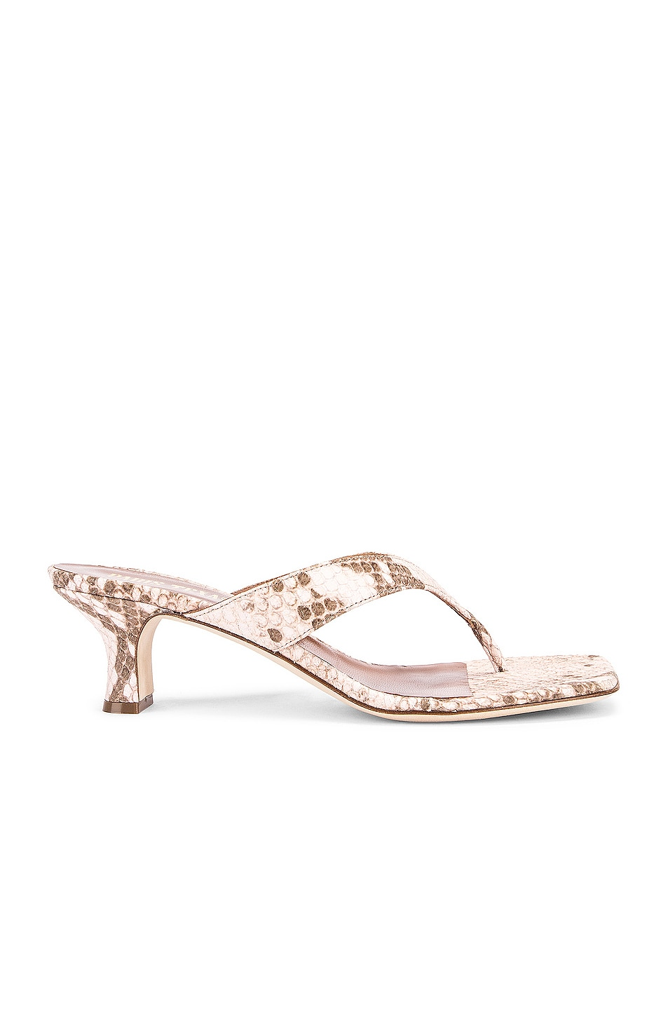 Image 1 of Paris Texas Faded Python Print 45 Thong Sandal in Faded Pink