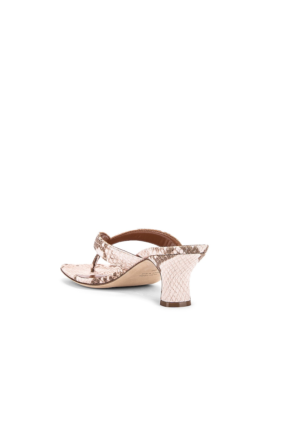 Image 3 of Paris Texas Faded Python Print 45 Thong Sandal in Faded Pink