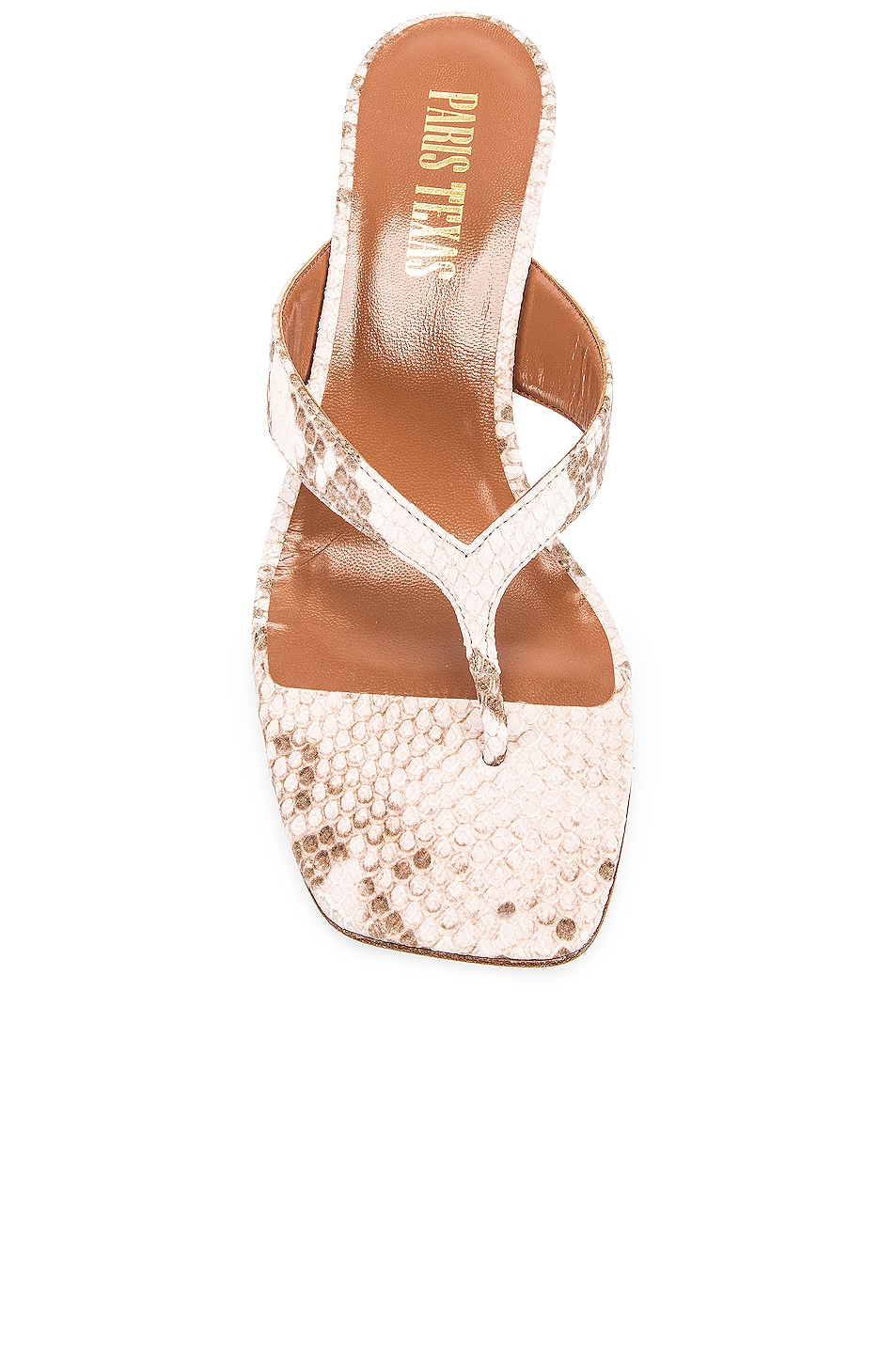 Image 4 of Paris Texas Faded Python Print 45 Thong Sandal in Faded Pink