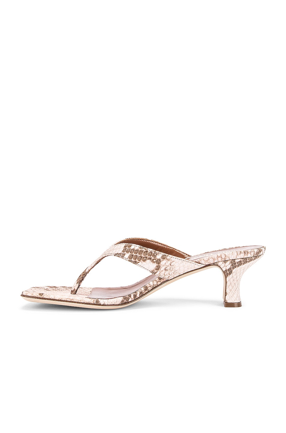 Image 5 of Paris Texas Faded Python Print 45 Thong Sandal in Faded Pink