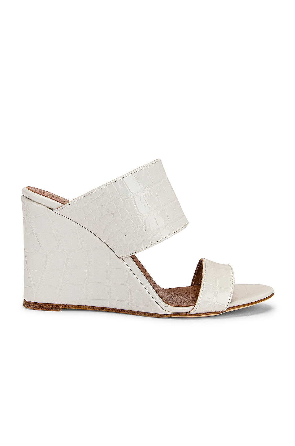 Image 1 of Paris Texas Moc Croco 80 Wedge in White