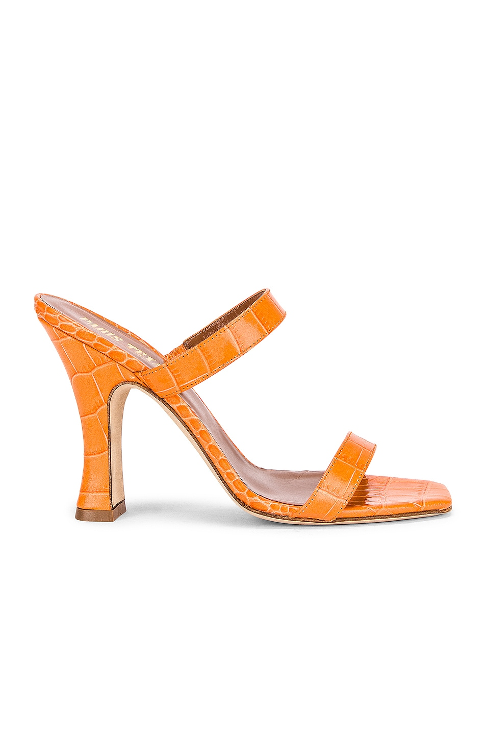 Image 1 of Paris Texas Moc Croco Mule in Orange