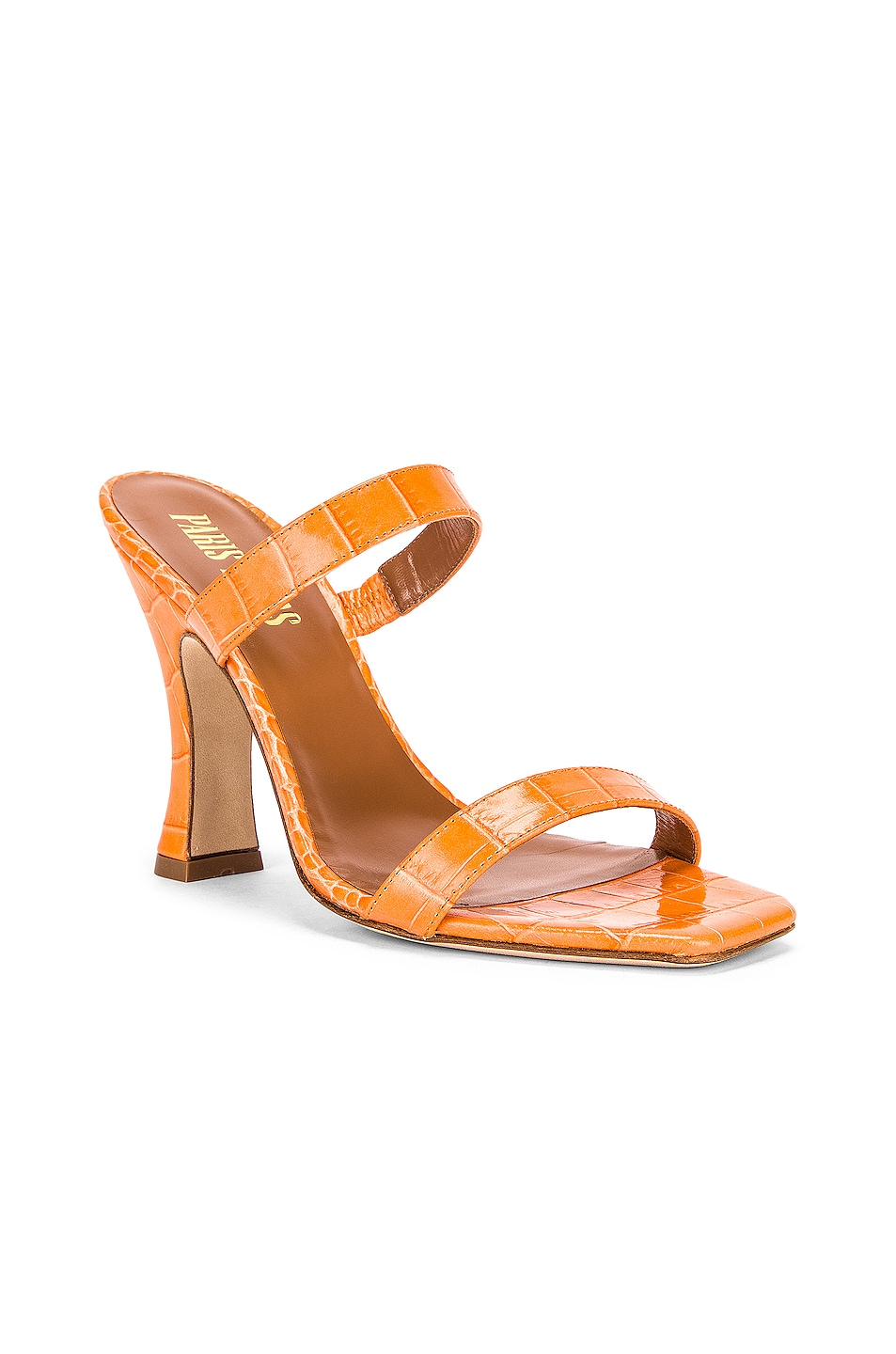 Image 2 of Paris Texas Moc Croco Mule in Orange