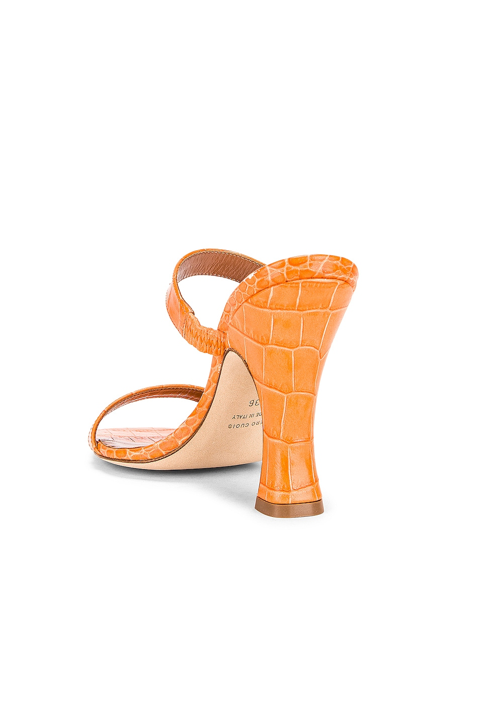 Image 3 of Paris Texas Moc Croco Mule in Orange