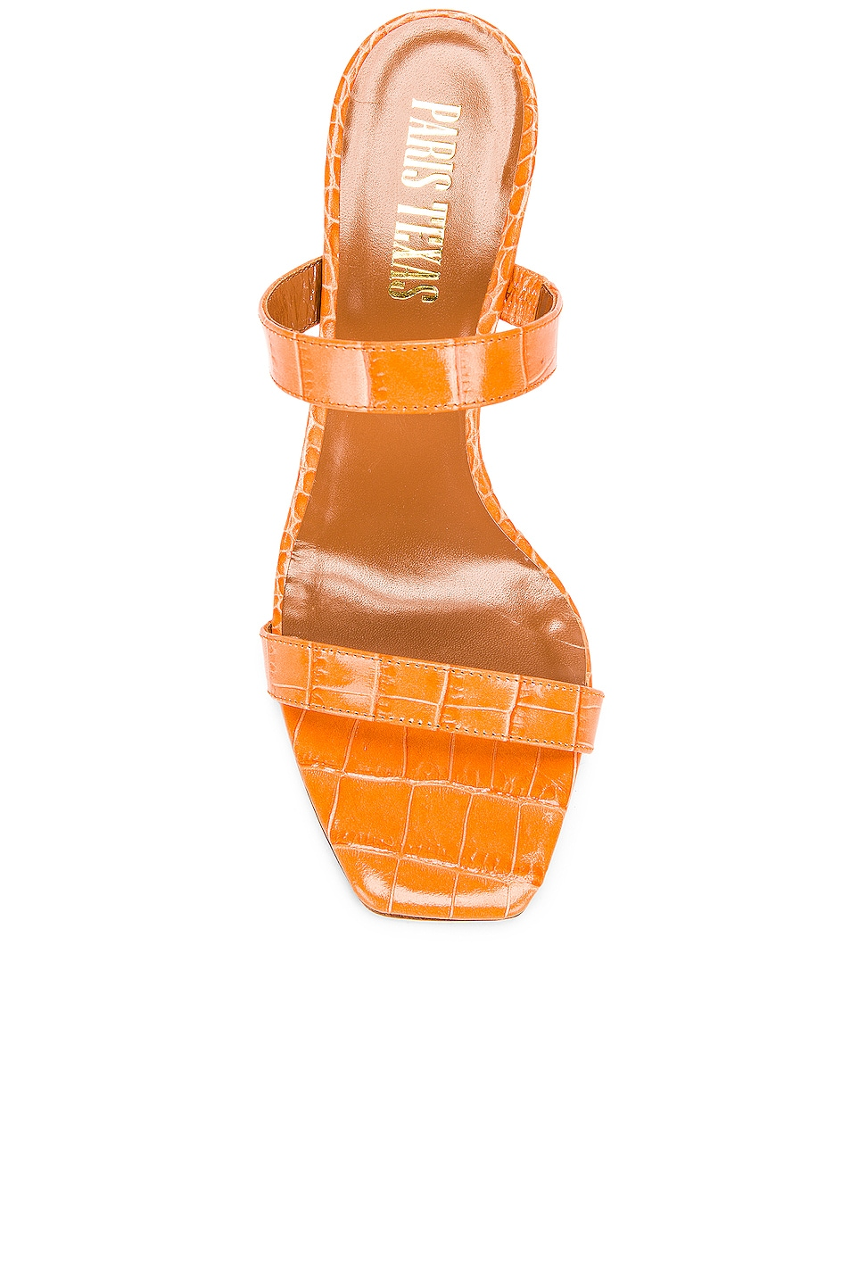 Image 4 of Paris Texas Moc Croco Mule in Orange