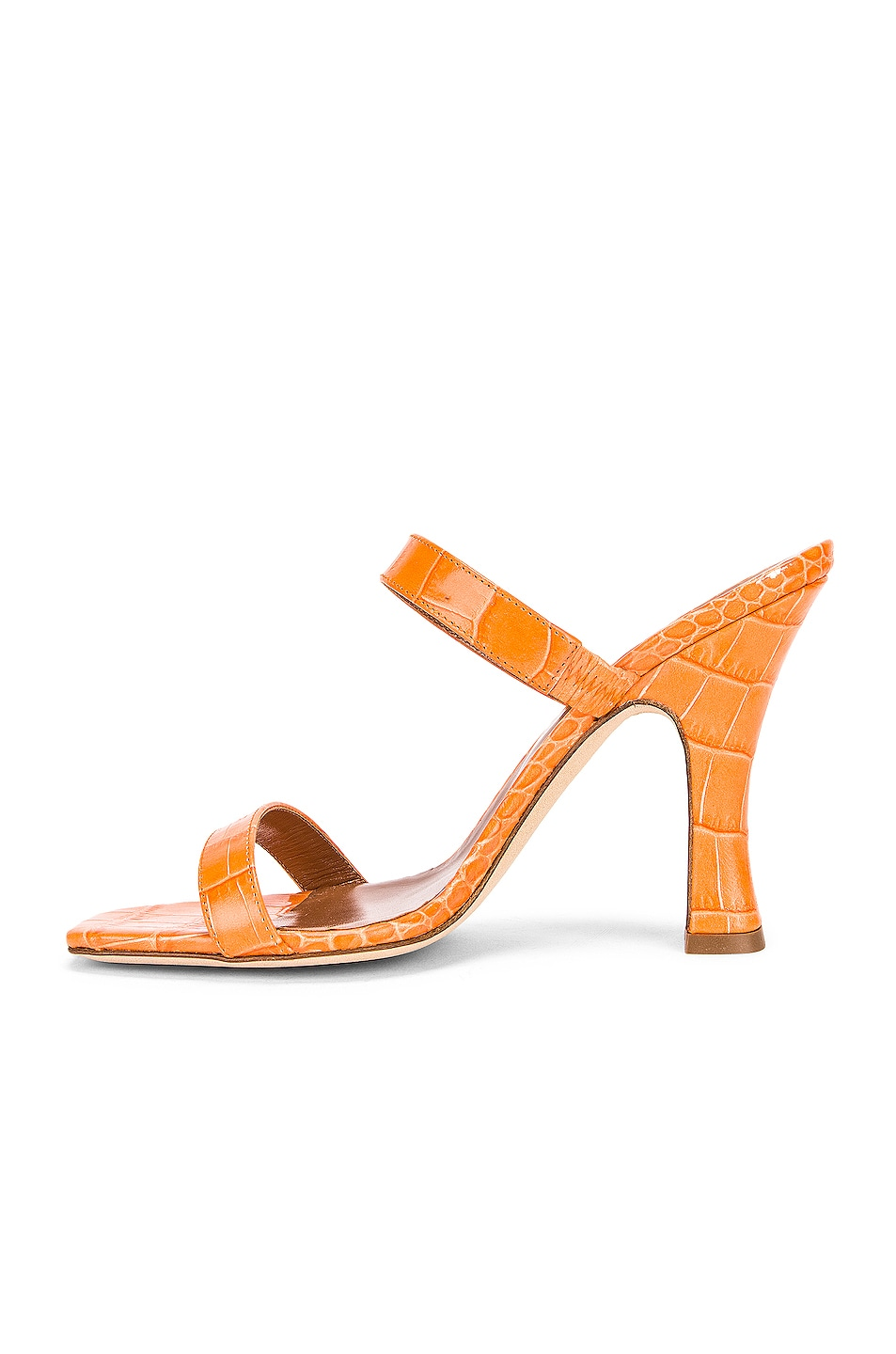 Image 5 of Paris Texas Moc Croco Mule in Orange
