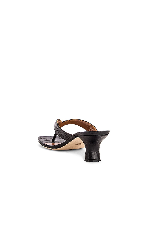Image 3 of Paris Texas Moc Croco 45 Thong Sandal in Black