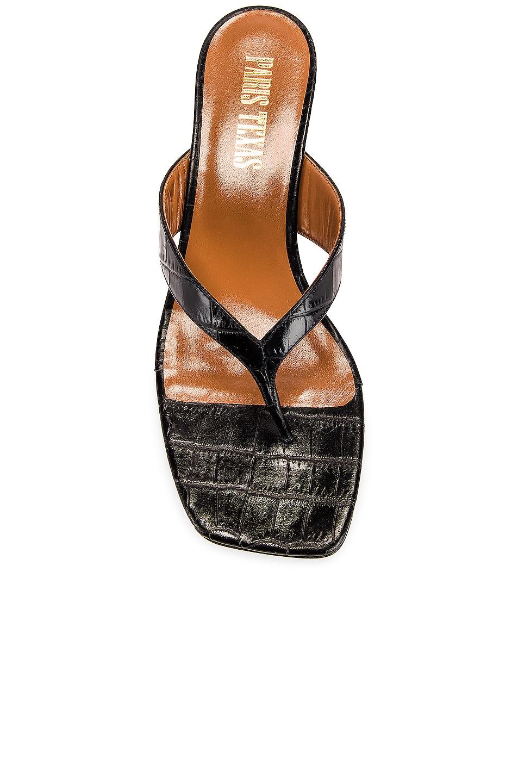 Image 4 of Paris Texas Moc Croco 45 Thong Sandal in Black