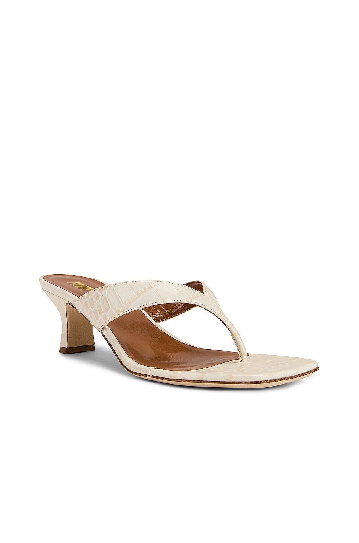 Image 2 of Paris Texas Soft Moc Croco 45 Thong Sandal in Ivory