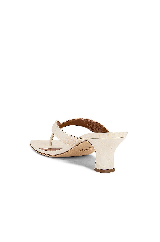 Image 3 of Paris Texas Soft Moc Croco 45 Thong Sandal in Ivory