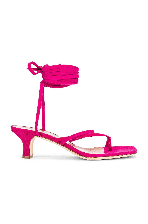 Image 1 of Paris Texas Suede Wrap Sandal in Fuchsia