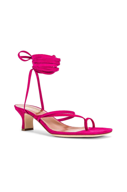 Image 2 of Paris Texas Suede Wrap Sandal in Fuchsia