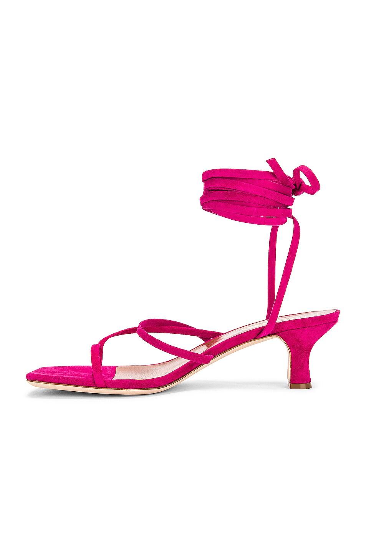 Image 5 of Paris Texas Suede Wrap Sandal in Fuchsia