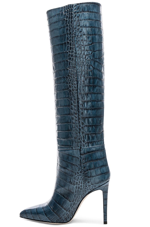 Image 5 of Paris Texas Stiletto Knee High Boot in Blu Croc