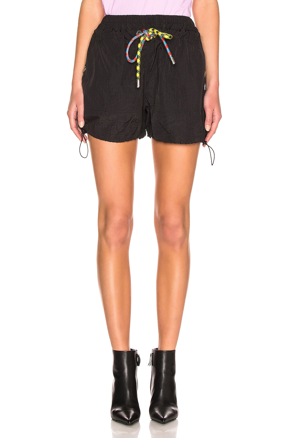 Image 1 of Proenza Schouler White Label Parachute Drawstring Short in Black