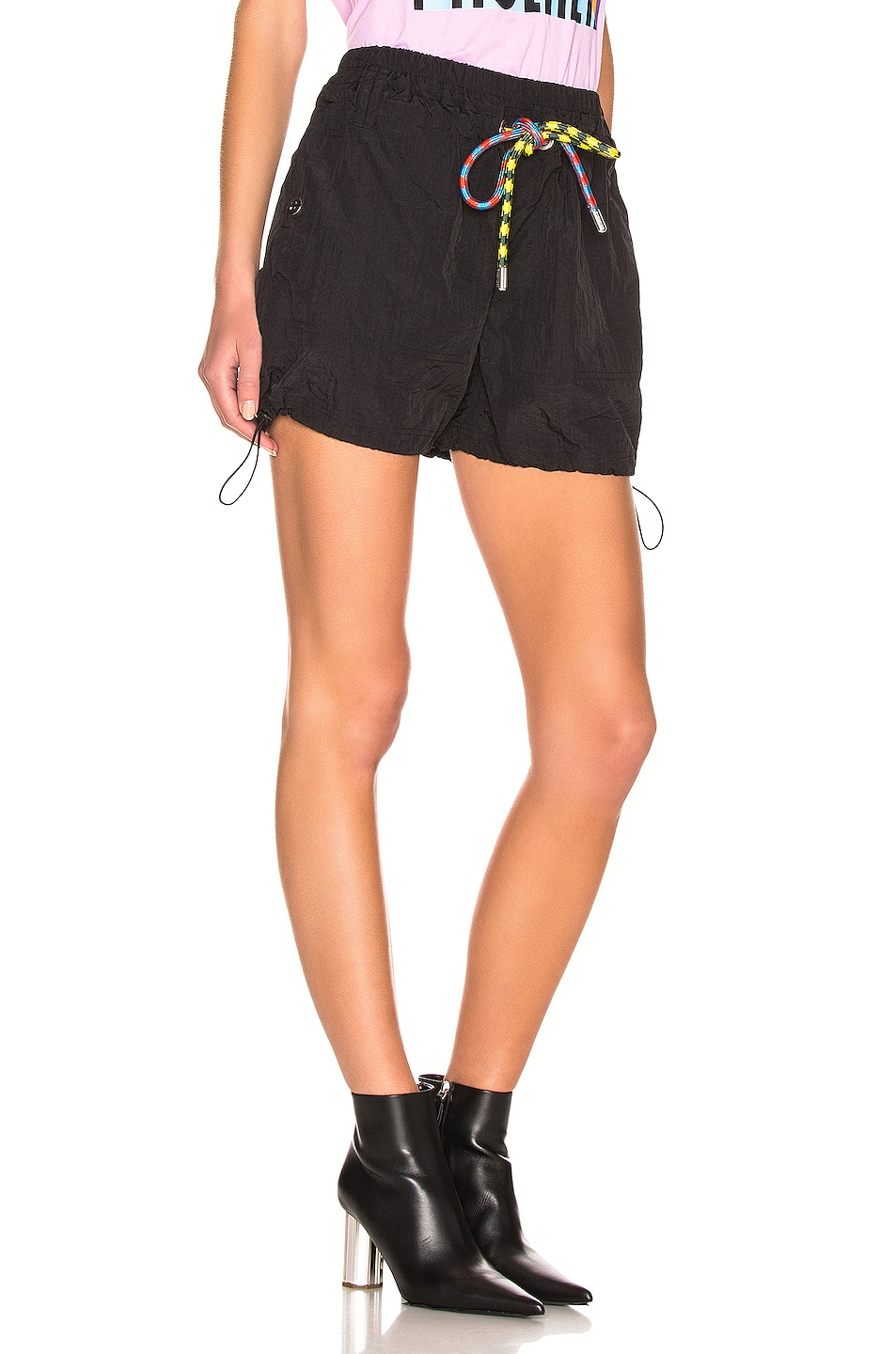 Image 2 of Proenza Schouler White Label Parachute Drawstring Short in Black
