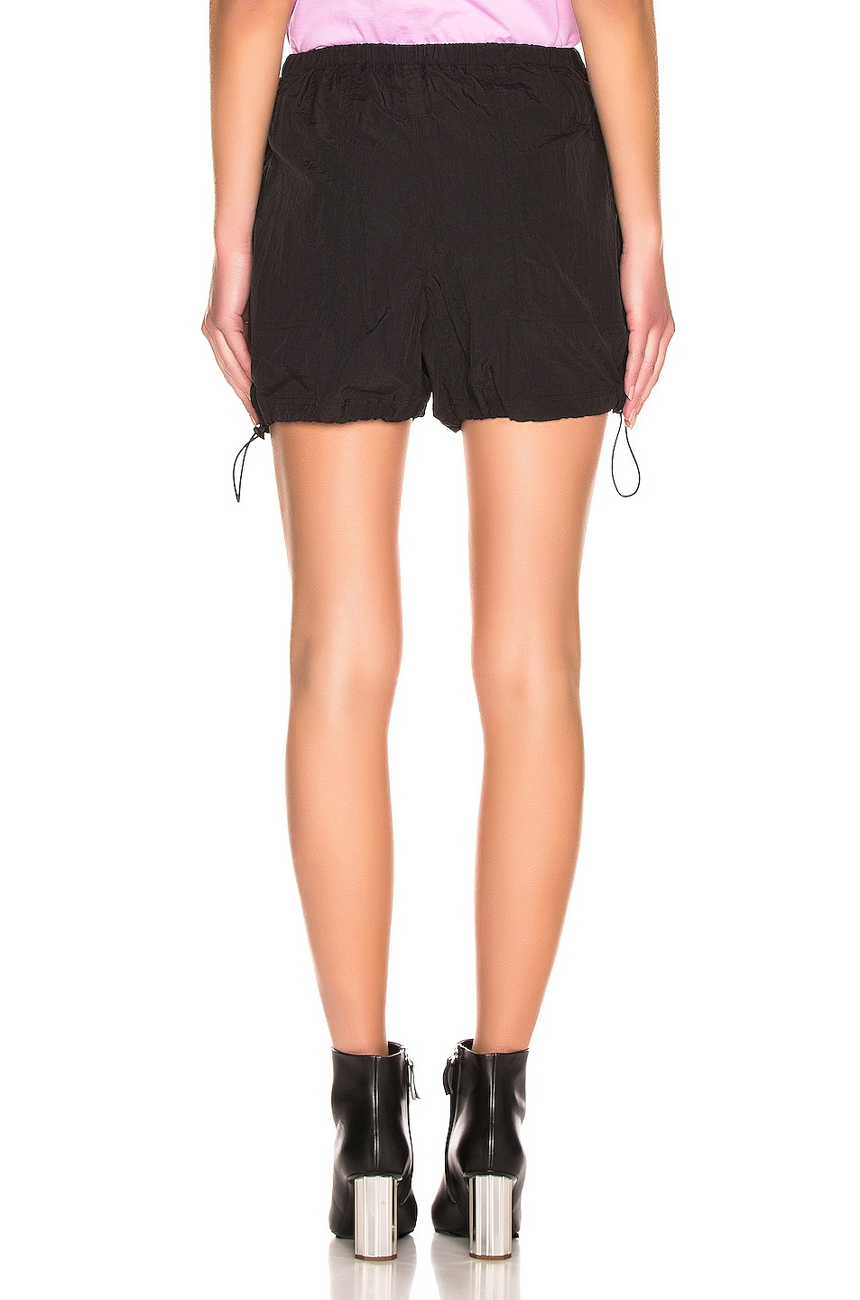 Image 3 of Proenza Schouler White Label Parachute Drawstring Short in Black