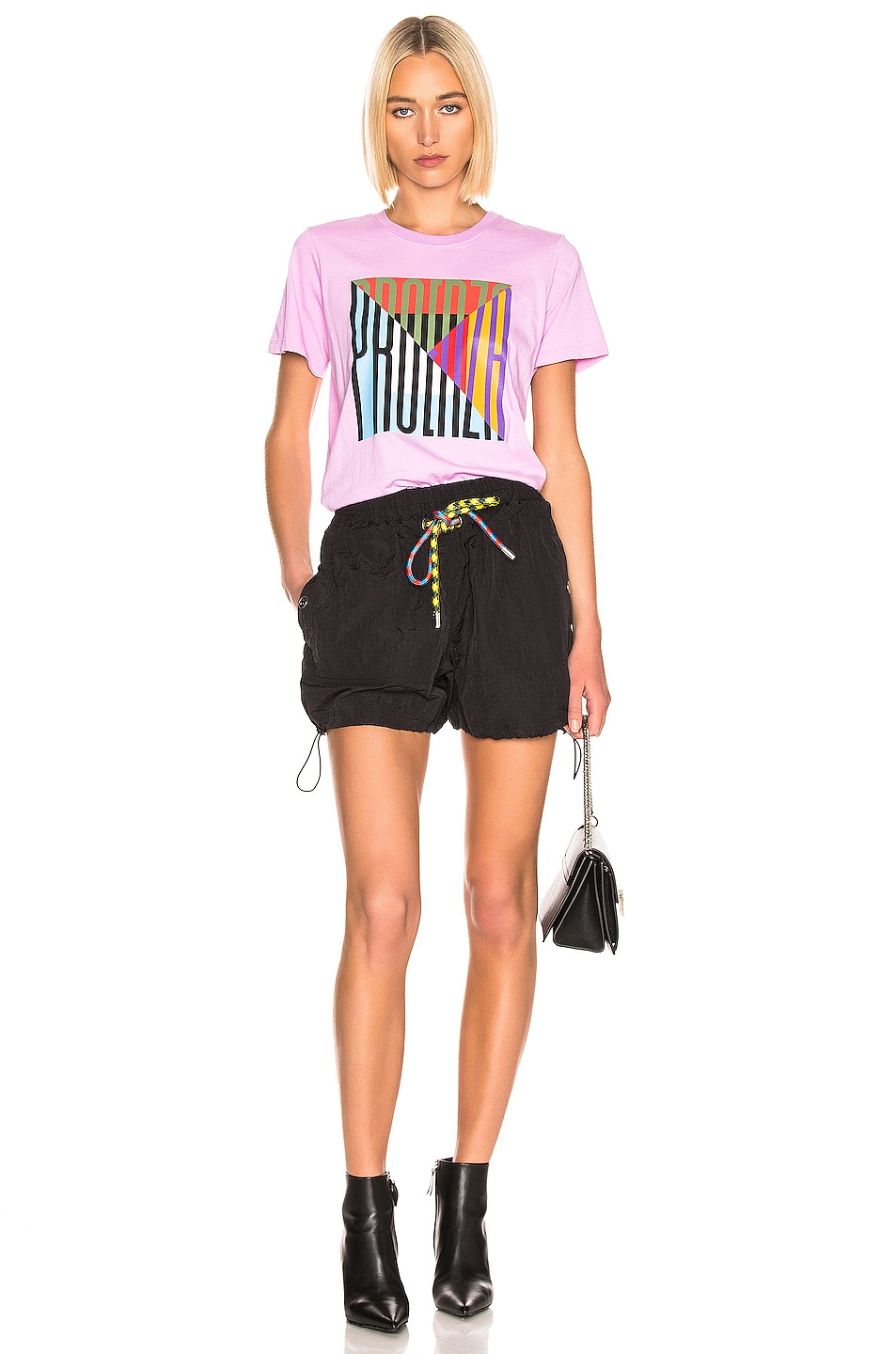 Image 4 of Proenza Schouler White Label Parachute Drawstring Short in Black