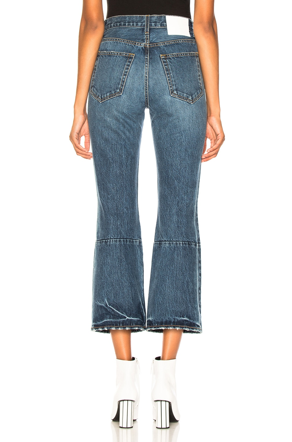 Image 3 of Proenza Schouler White Label Cropped Flare Jean in Medium Blue