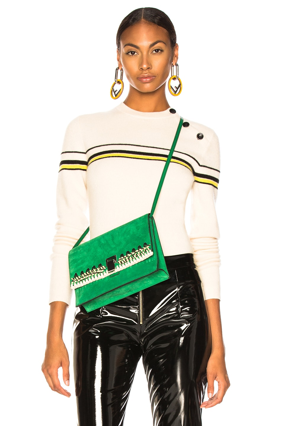 Image 1 of Proenza Schouler PSWL Stripe Sweater in Off White Combo