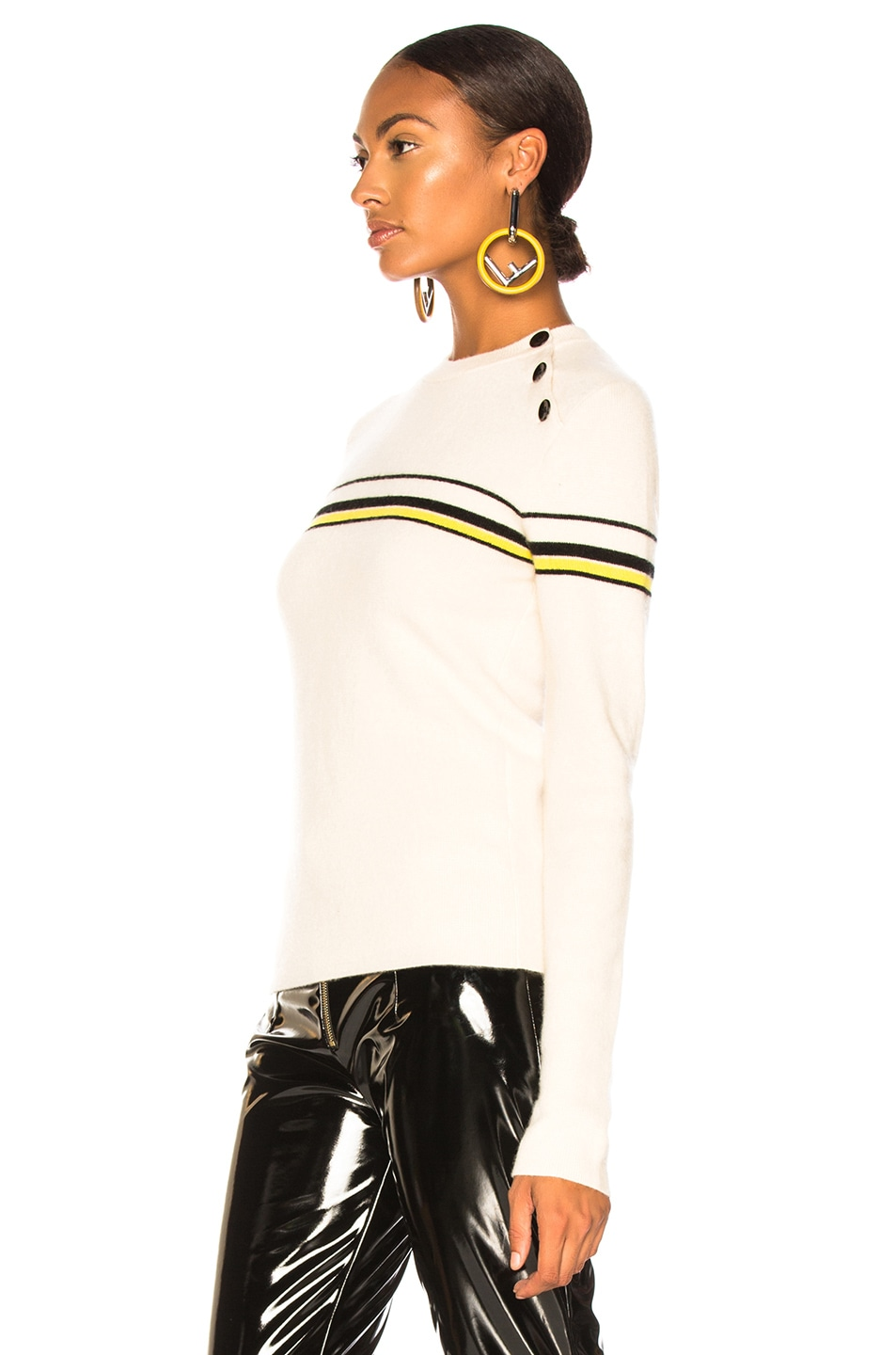 Image 4 of Proenza Schouler PSWL Stripe Sweater in Off White Combo