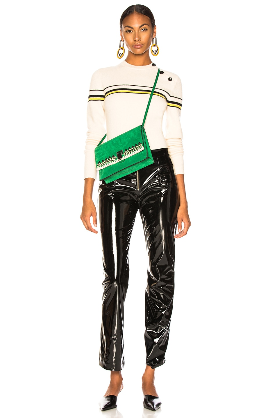 Image 6 of Proenza Schouler PSWL Stripe Sweater in Off White Combo