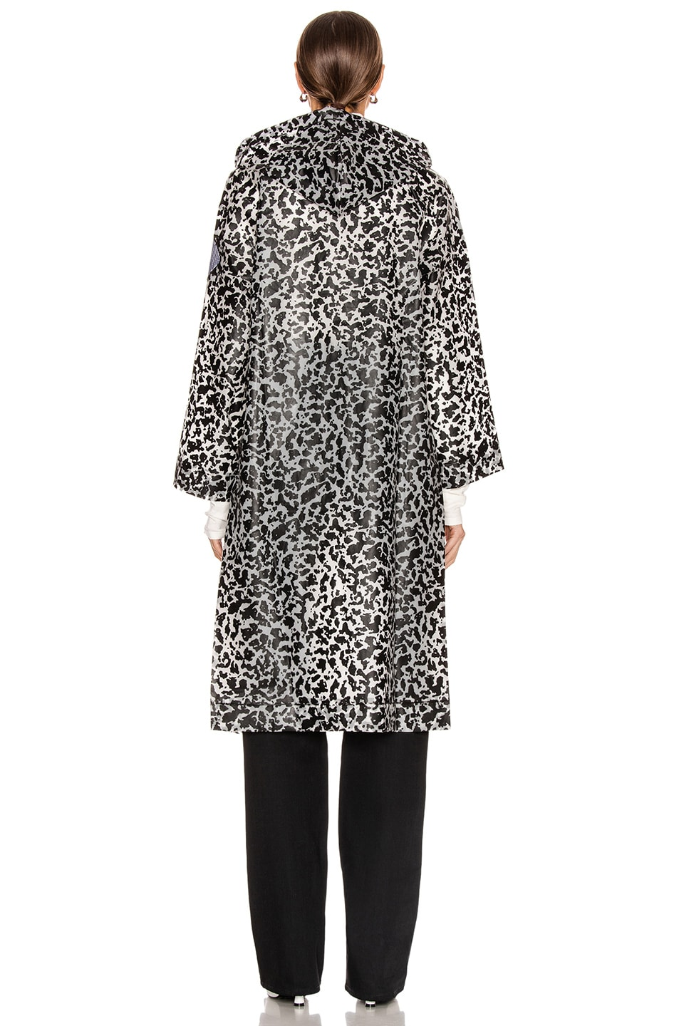 Image 5 of Proenza Schouler White Label Printed Long Raincoat in Milky White & Black