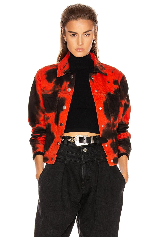 Image 1 of Proenza Schouler PSWL Denim Jacket in Poppy & Black Tie Dye