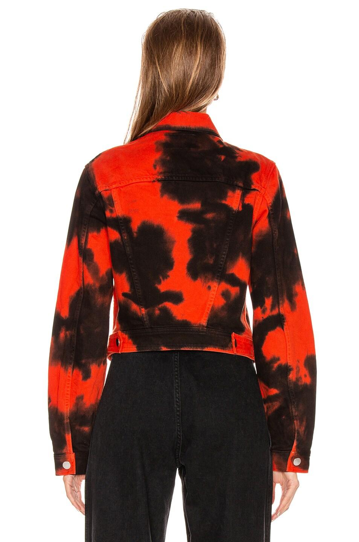 Image 4 of Proenza Schouler PSWL Denim Jacket in Poppy & Black Tie Dye
