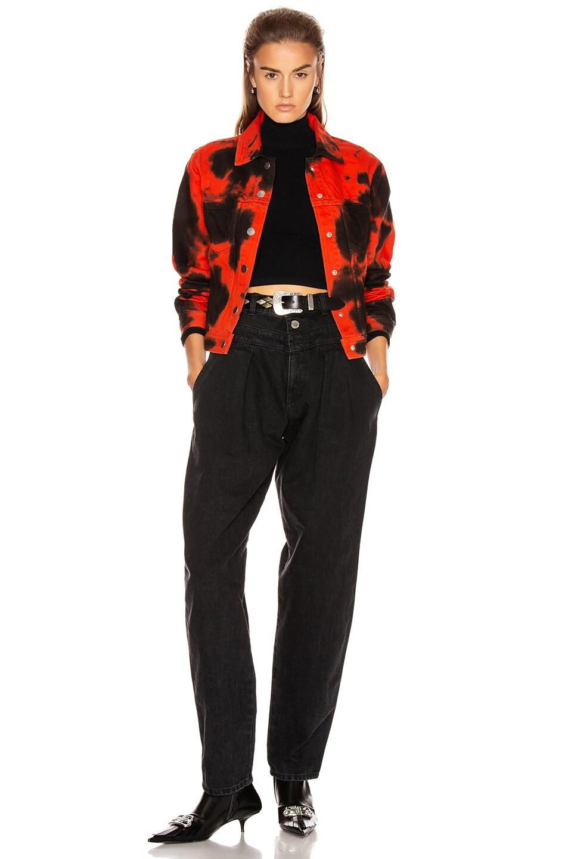 Image 5 of Proenza Schouler PSWL Denim Jacket in Poppy & Black Tie Dye
