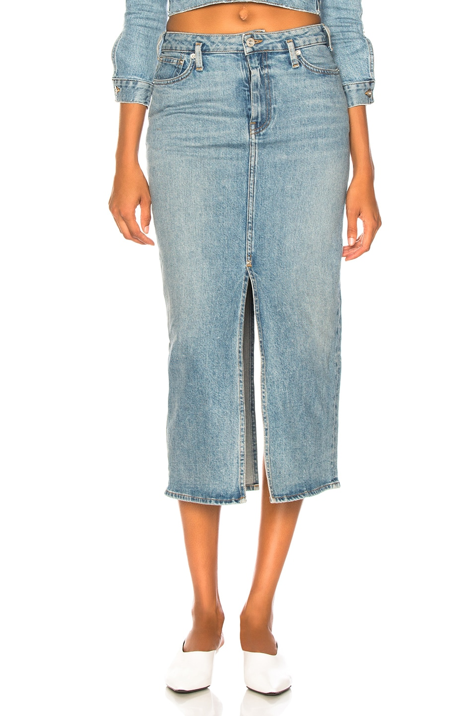Image 1 of Proenza Schouler PSWL Slit Skirt in California