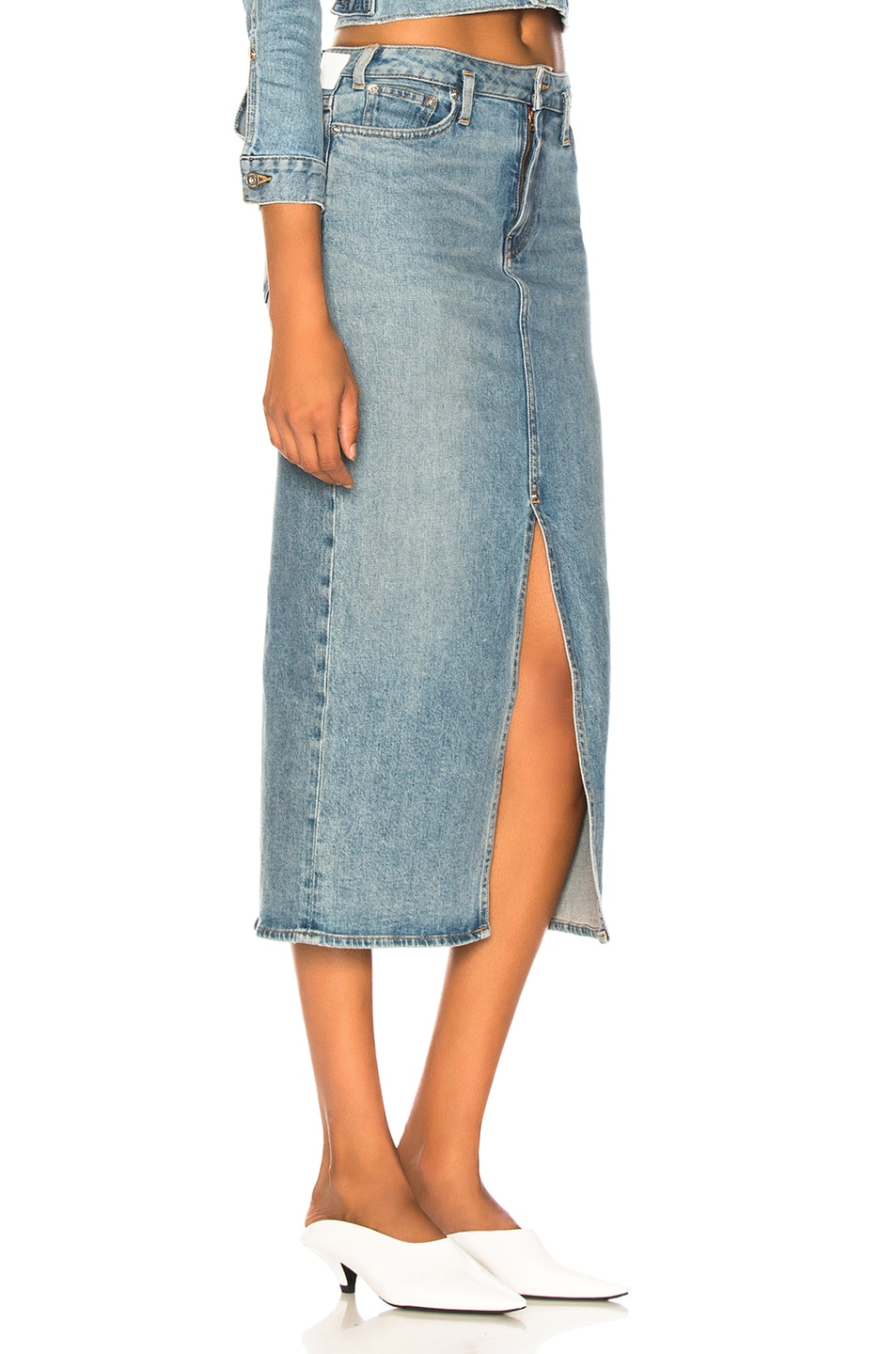 Image 2 of Proenza Schouler PSWL Slit Skirt in California